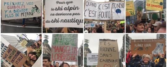 Marche pour le climat du 10/10 – Ateliers «Calicots/Banderoles/slogans»